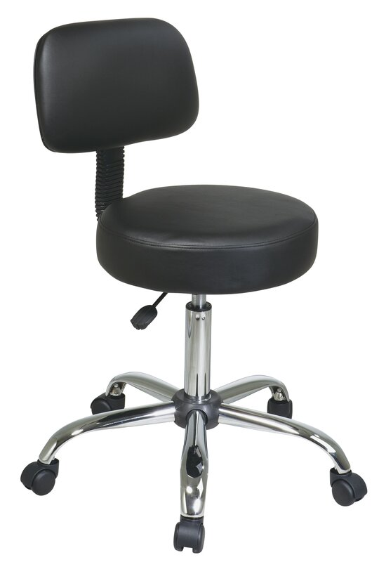 Default nameOffice Star Vinyl Seat and Back Chrome Finish Drafting Chair  . Office Star Height Adjustable Drafting Chair With Footring. Home Design Ideas