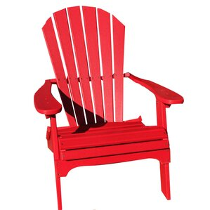 Phat Tommy Folding Recycled Poly Adirondack ChairRed Adirondack Chairs You  Ll Love Wayfair