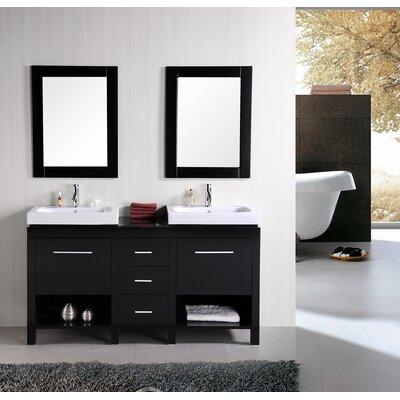 Oakley 60 Double Bathroom Vanity Set With Mirror
