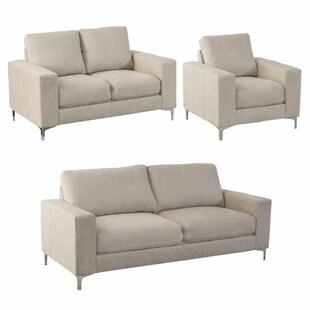 Find for Hermia 3 Piece Living Room Set by Orren Ellis Reviews (2019) & Buyer's Guide