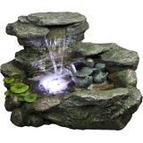 Gainesville Polystone Fountain with LED Light byBond Manufacturing