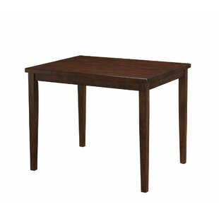 Leff Modern Counter Height Solid Wood Dining Table by Alcott Hill