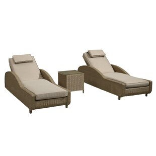 Parkdale Reclining Sun Lounger Set With Cushions And Table By Sol 72 Outdoor