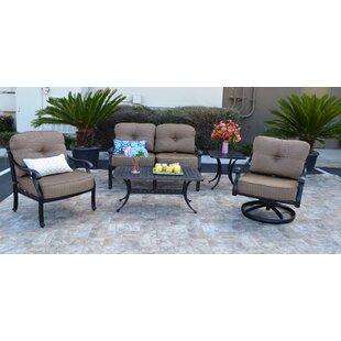 Darby Home Co Nola 5 Piece Sunbrella Sofa Set with Cushions