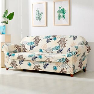 Leaves Printed Stretch Sofa Slipcover