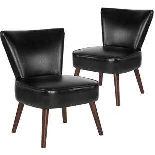 Affordable MacArthur Leather Side Chair (Set of 2) by Ebern Designs Reviews (2019) & Buyer's Guide