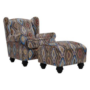 Meltzer Wingback Chair and Ottoman by Alcott Hill
