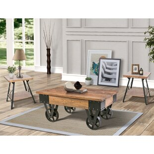 Czapla 3 Piece Coffee Table Set 17 Stories