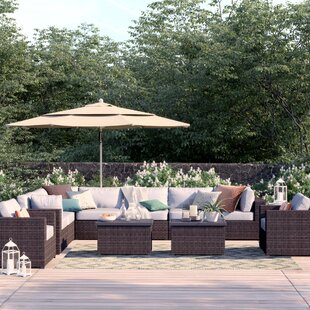 Fernando 11 Piece Sectional Seating Group with Cushions