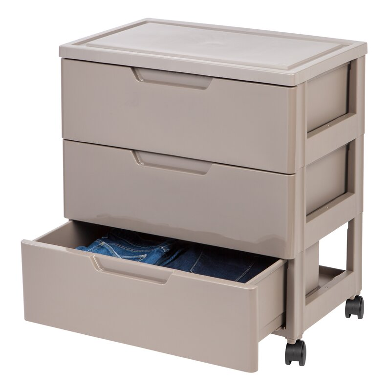 3 Drawer Plastic Storage Chest