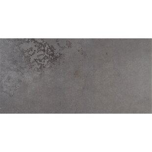 Slate Attaché 12 inch  x 24 inch  Porcelain Field Tile in Meta Dark Gray