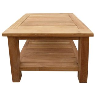 Cortright Teak Side Table by Highland Dunes Find