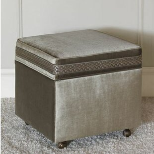 Ezra Velda Smoke Storage Ottoman by Eastern Accents