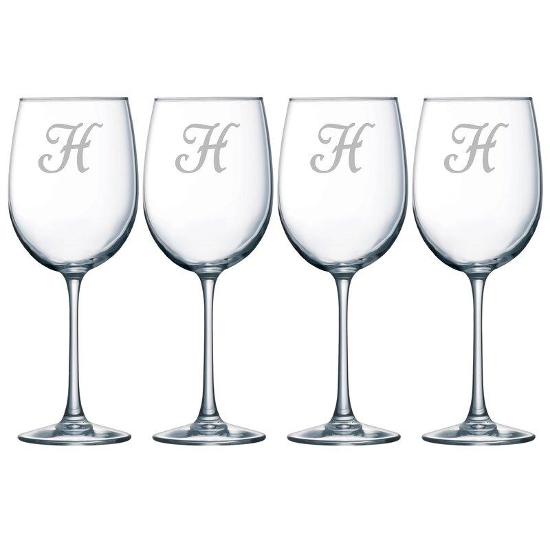 240a358acdb Susquehanna Glass Monogram 19 oz. All Purpose Wine Glass & Reviews ...