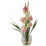 Liquid Illusion Silk Calla Lily with Vase