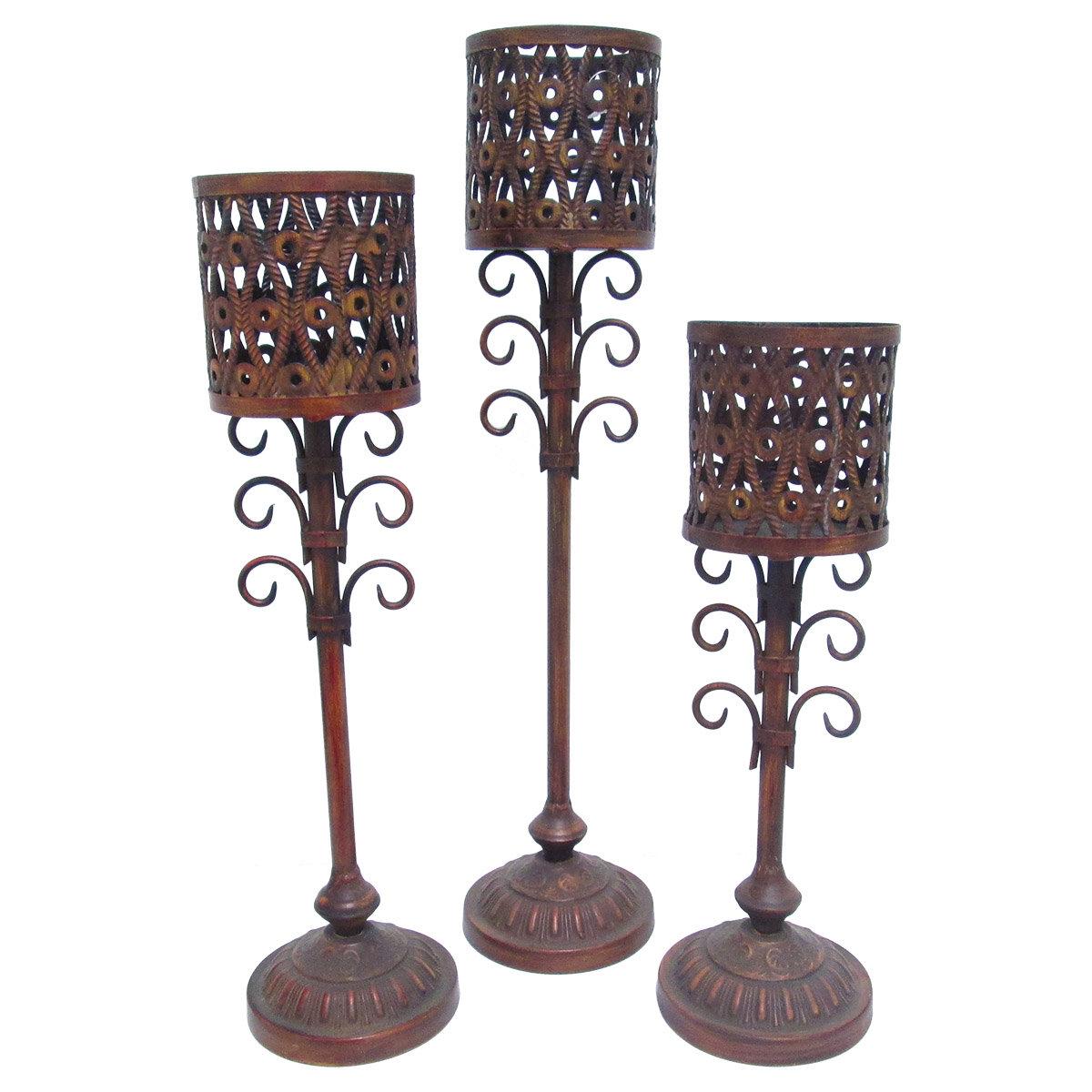 11.25-Inch Bronze Fantastic Craft Candle Holder