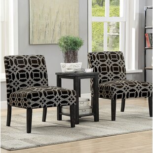 House of Hampton Motter Accent Armchair with End Table