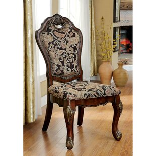 Bartz Traditional Solid Wood Dining Chair (Set of 2) Astoria Grand