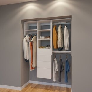 Inexpensive Clayton 60 W Organizer Closet System (Set of 5) By Rebrilliant
