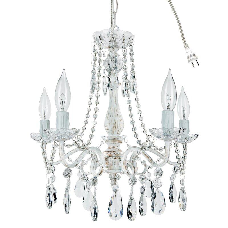 Alida 5 light crystal chandelier