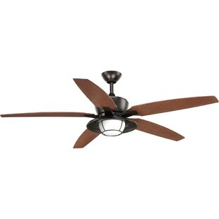 Breakwater Bay Milmont 5 Blade Outdoor LED Ceiling Fan with Remote