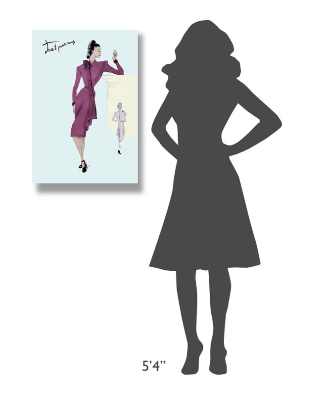 East Urban Home Flap Over Button Dress 1947 Graphic Art Print On Wrapped Canvas Wayfair