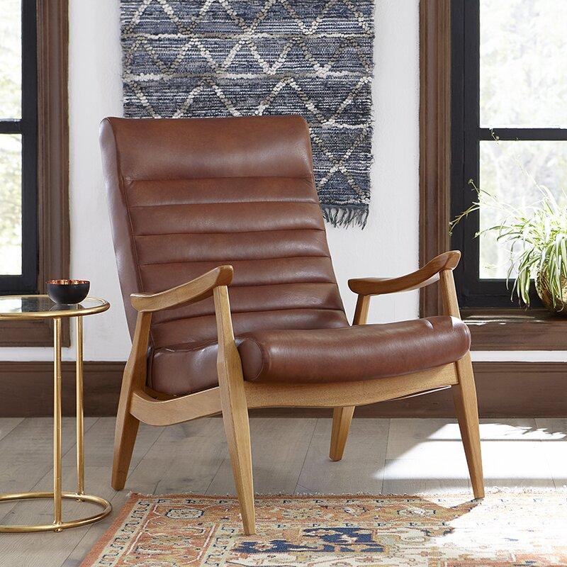 DwellStudio Hans Leather Armchair & Reviews | Wayfair