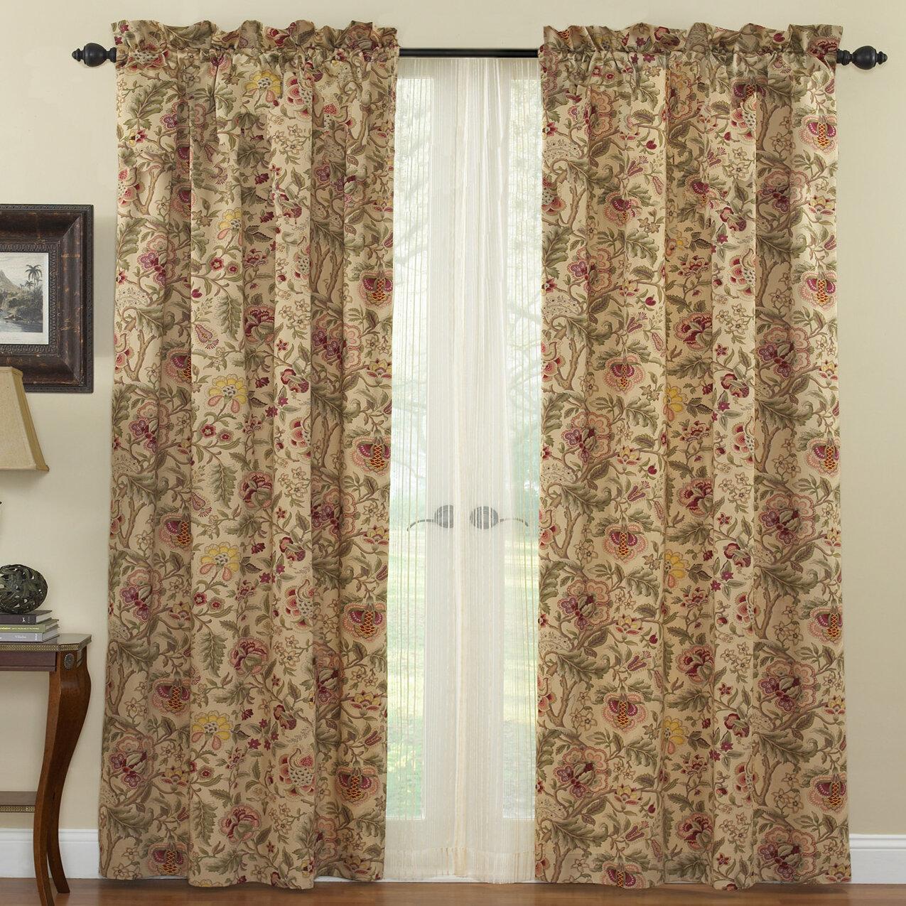 Waverly Imperial Dress Drapery Floral Room Darkening Rod Pocket Curtain Panels Reviews Wayfair