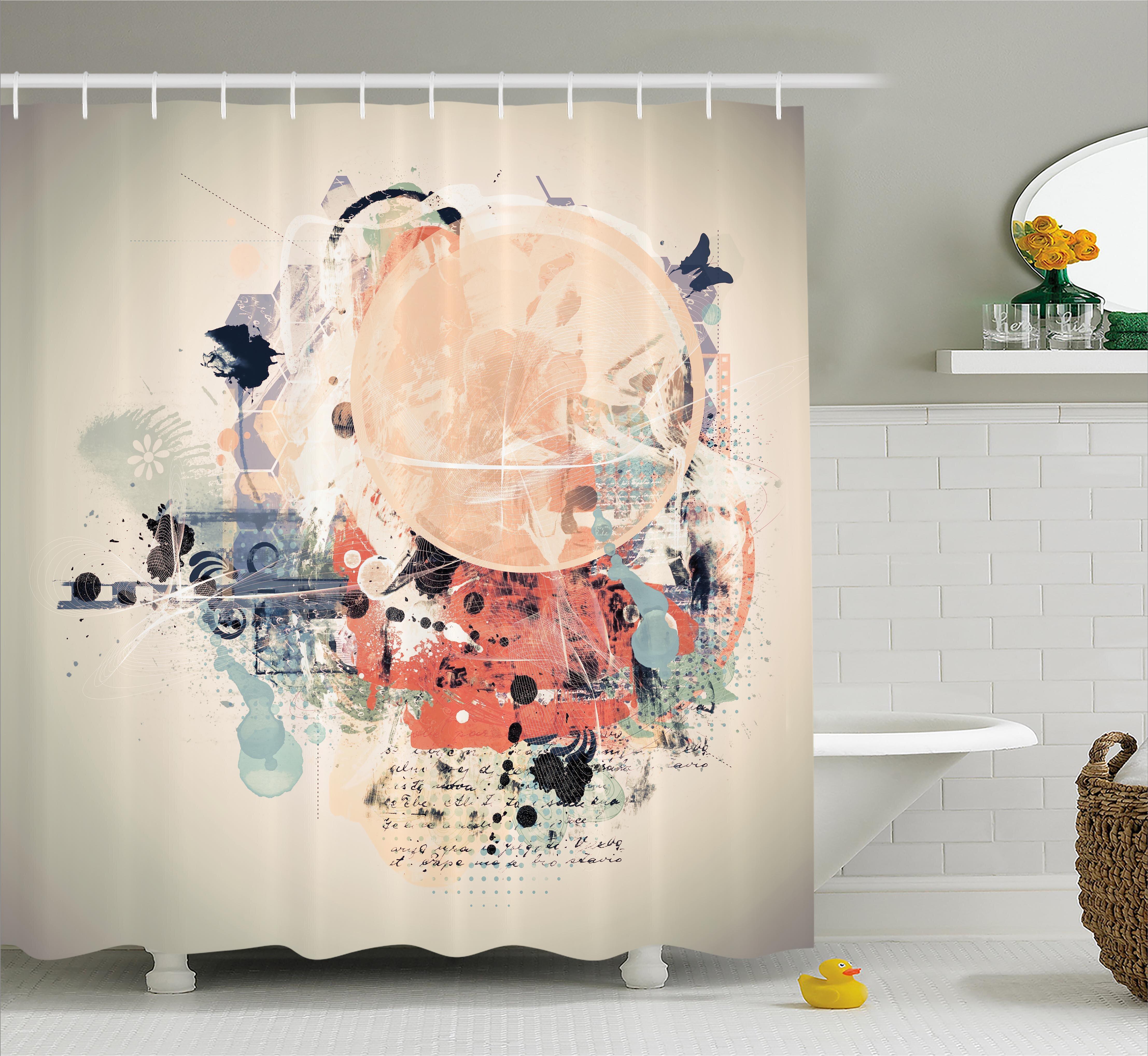 Ebern Designs Grant Grunge Mix Collage Shower Curtain