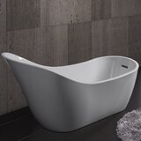 67.7'' x 28.34'' Freestanding Soaking Bathtub by AKDY