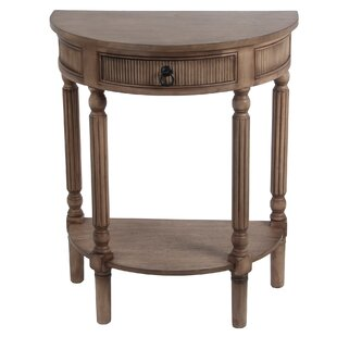 Red Barrel Studio Daugherty 1 Drawer Half Round End Table