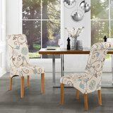 Alinuswe Linen Upholstered Dining Chair in White (Set of 2) by Red Barrel Studio®