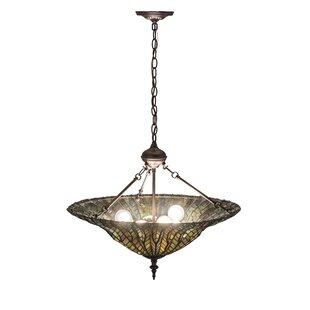 Tiffany Lotus Leaf 6-Light Bowl Pendant by Meyda Tiffany