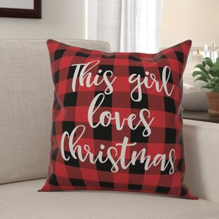 Buffalo Plaid Christmas Pillow Wayfair