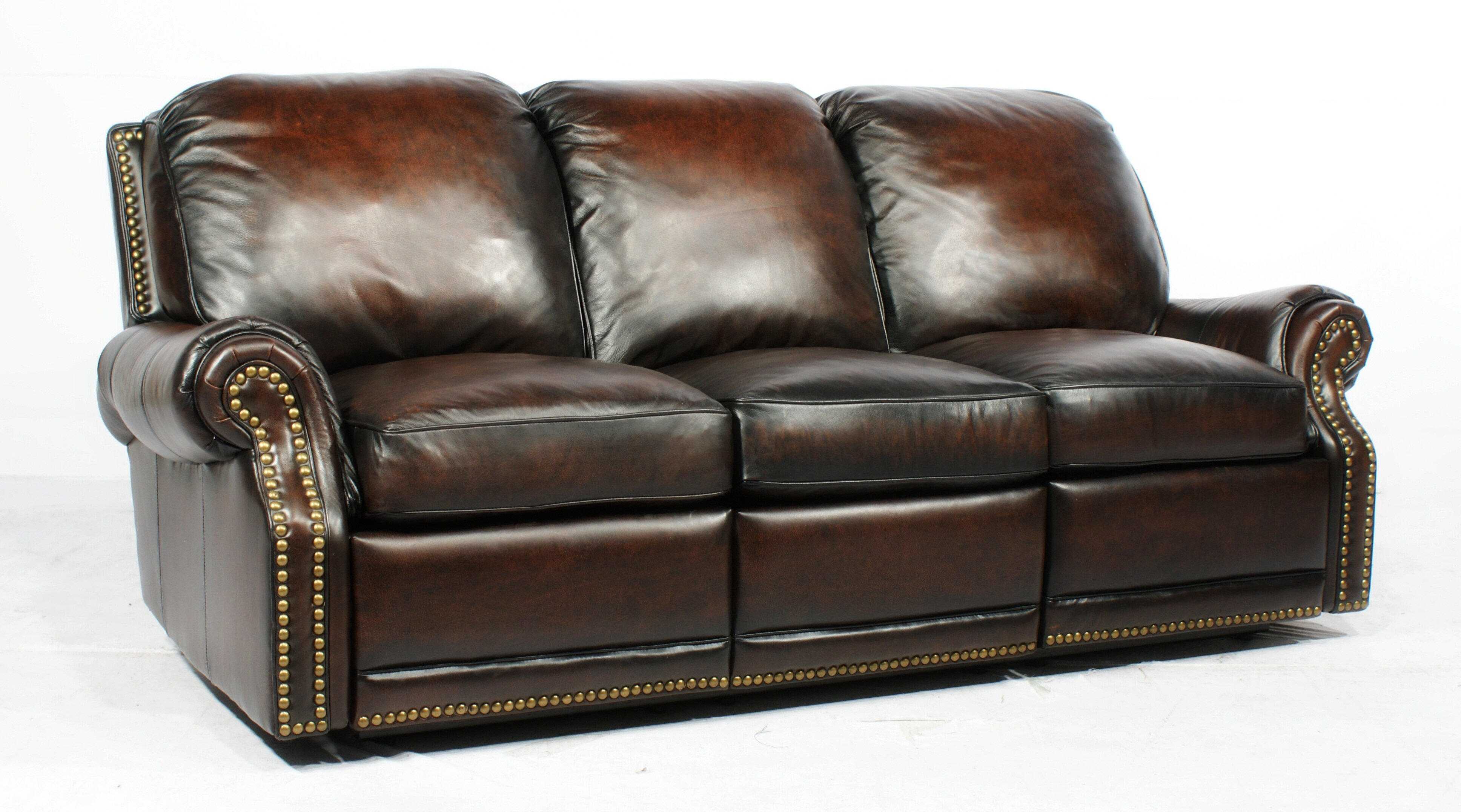 layla gray modern brown couch size tea reclining drop full of sofa recliner design fauxer leather dark down with