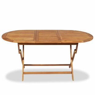 Folding Solid Wood Dining Table by Breakw..