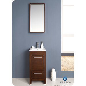 allier 16 single small modern bathroom vanity set with mirror