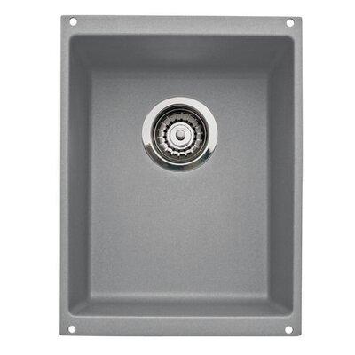 Precision 13.75 L x 18 W Kitchen Sink Blanco Color: Metallic Gray