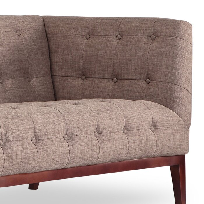 Margaret Mid Century Modern English Tufted Chesterfield Sofa