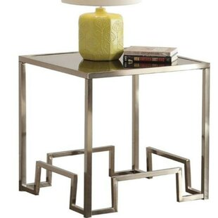 Morrisania Square Glass End Table by Orren Ellis