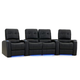 Large Blue LED Home Theater Curved Row Seating (Row of 4)