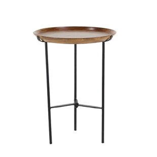 Woburn Rustic Round End Table by Union Rustic