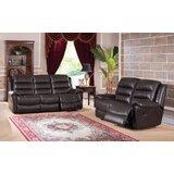Lorretta 2 Piece Leather Reclining Living Room Set by Red Barrel Studio®