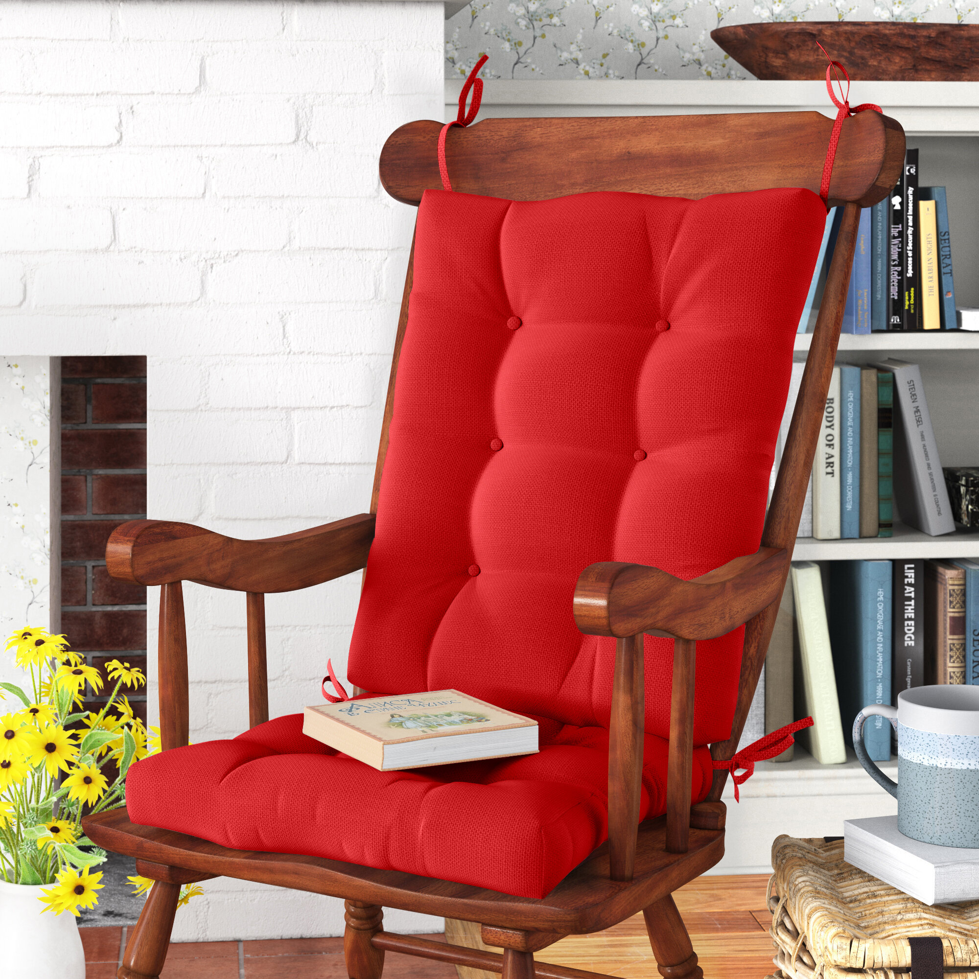 Hot Pink Baby Doll Bedding Rocking Chair Cushion Pad Set