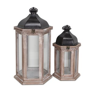 2 Piece Lantern Set (Set Of 2) by World Menagerie Amazing