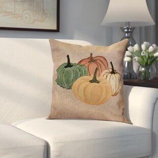 Miller Paper Mache Pumpkins Outdoor Throw Pillow