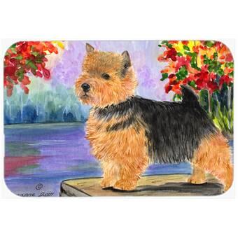 Caroline S Treasures Union Jack Border Terrier With English British Flag Glass Cutting Board Wayfair