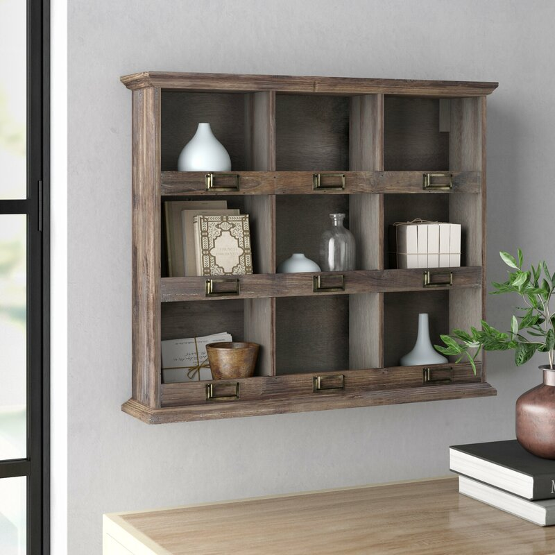 Three Posts Shefford Wooden Wall Shelf