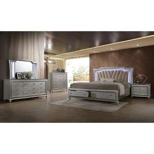 Shamir Tufted Low Profile Storage Platform Bed