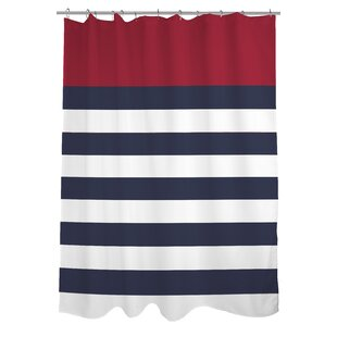 Nautical Striped Single Shower Curtain